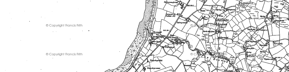 Old map of Aberdesach in 1899