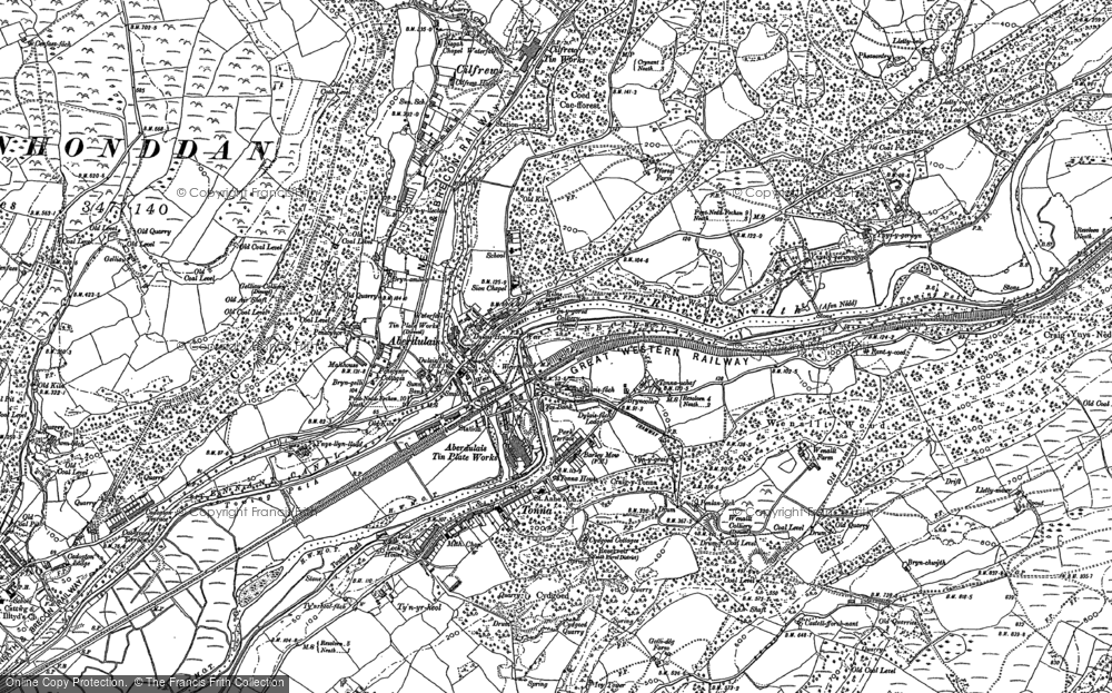 Old Map of Aberdulais, 1897 in 1897