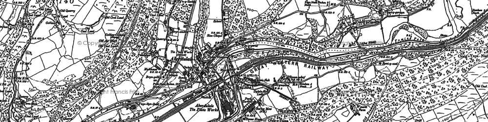 Old map of Aberdulais in 1897