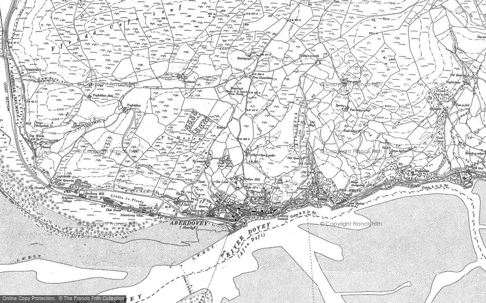 Old Map of Aberdyfi, 1900 in 1900