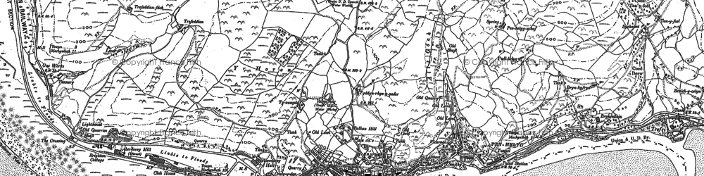 Old map of Aberdyfi in 1900