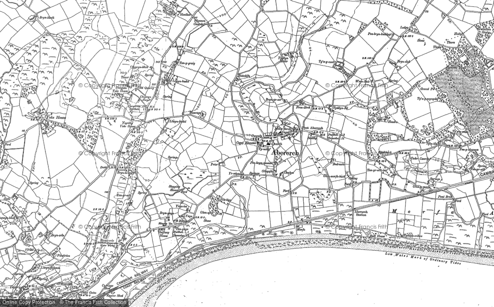 Old Map of Historic Map covering Afon Erch in 1899