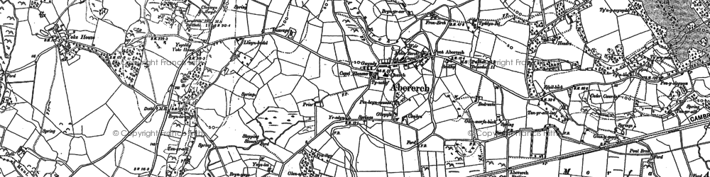 Old map of Afon Erch in 1899