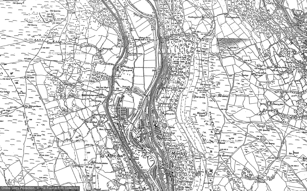 Old Map of Aberfan, 1898 in 1898