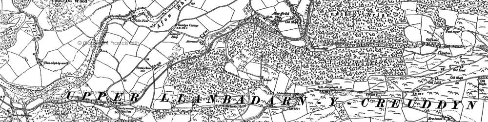 Old map of Abernant in 1886