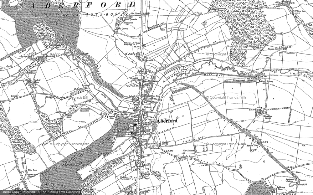 Old Map of Aberford, 1890 - 1891 in 1890
