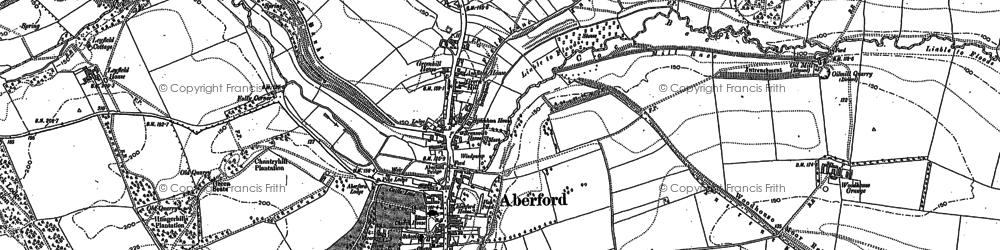 Old map of Aberford in 1890