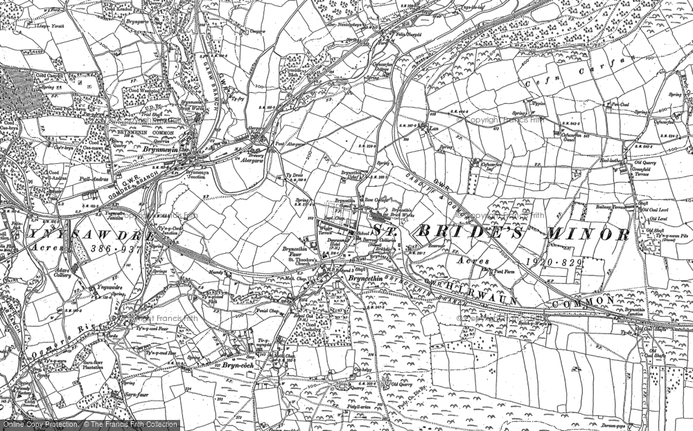 Old Map of Abergarw, 1897 in 1897