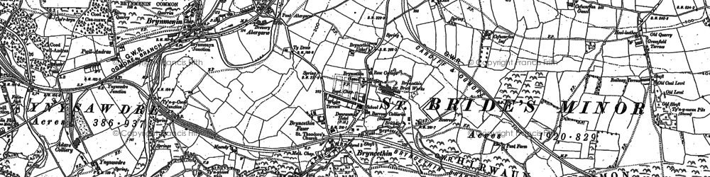 Old map of Abergarw in 1897