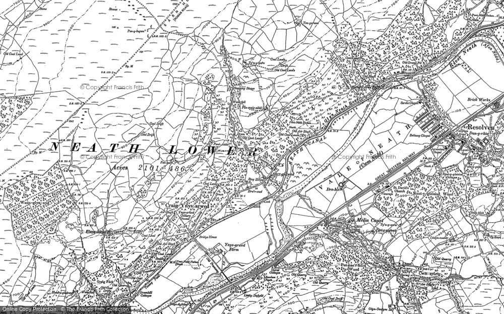 Old Map of Abergarwed, 1897 in 1897