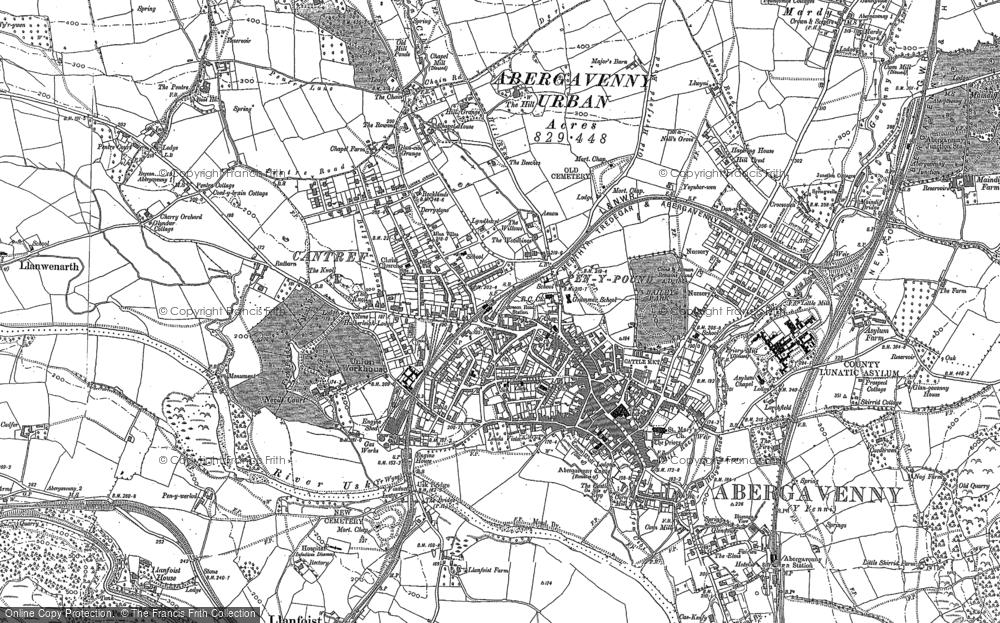 Map of Abergavenny, 1879 - 1903