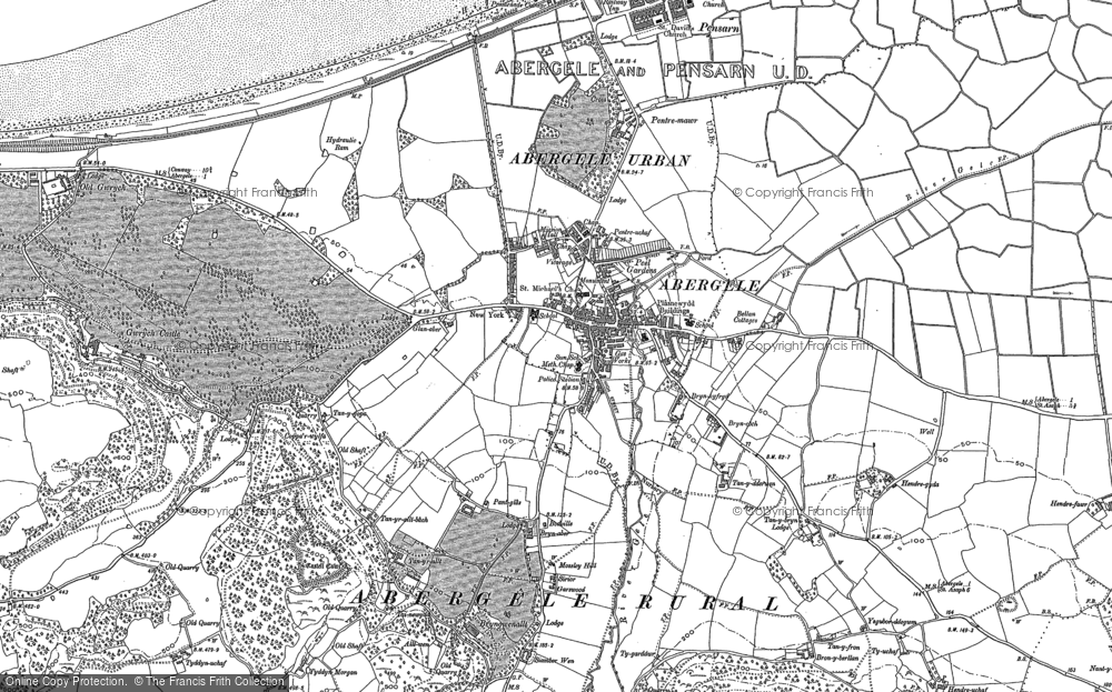 Old Map of Abergele, 1911 in 1911