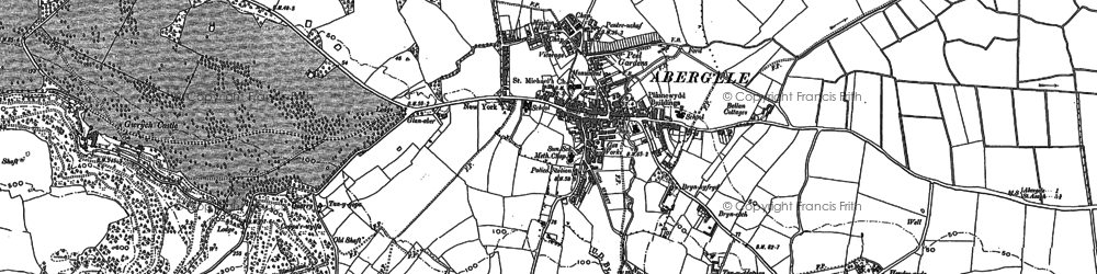 Old map of Abergele in 1911