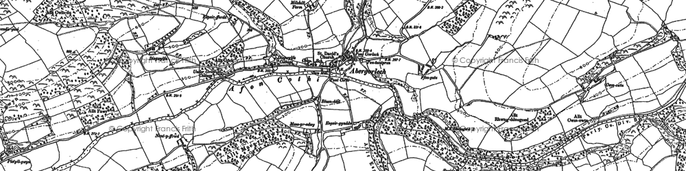 Old map of Acheth in 1886
