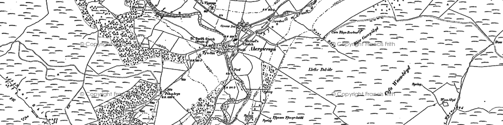Old map of Abergwesyn in 1887