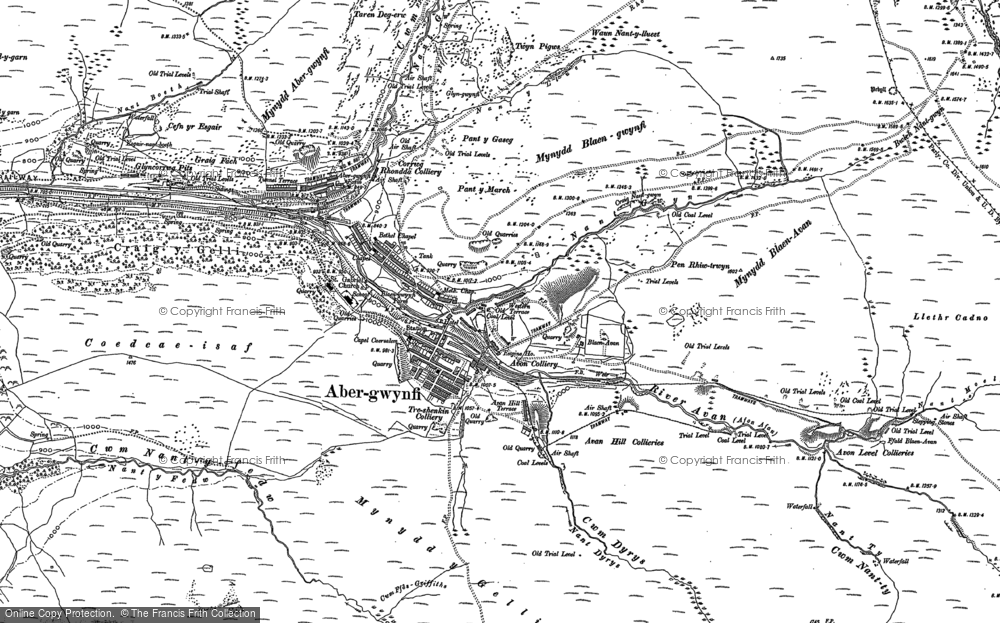 Map of Abergwynfi, 1897