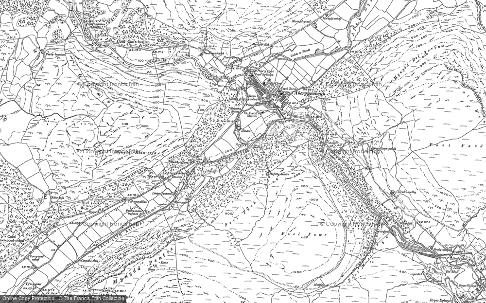 Old Map of Abergynolwyn, 1900 in 1900