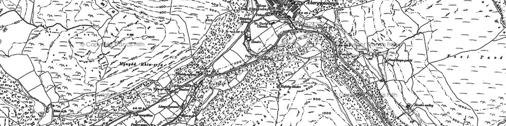 Old map of Abergynolwyn in 1900