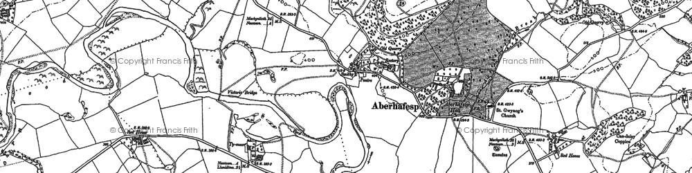 Old map of Aberhafesp in 1884