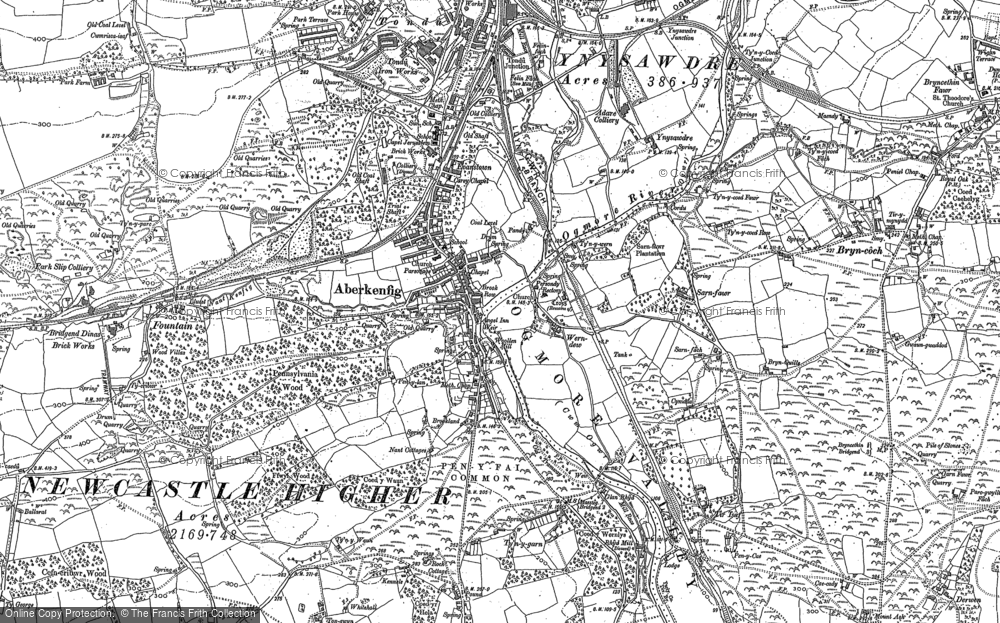Map of Aberkenfig, 1897