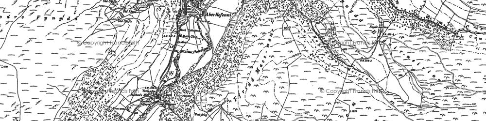 Old map of Aberllefenni in 1900