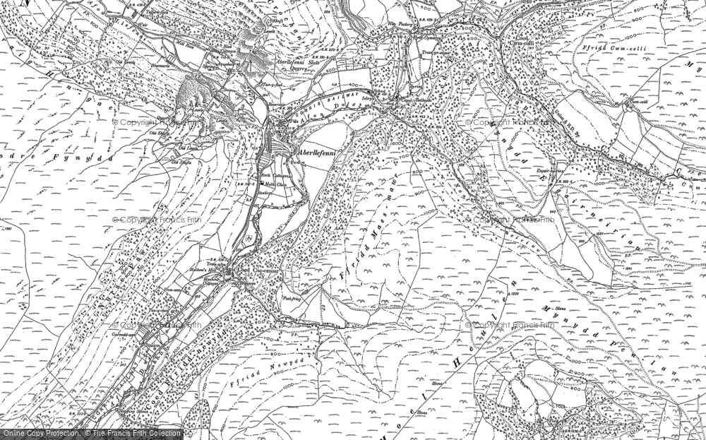 Old Map of Historic Map covering Afon Dulas in 1900