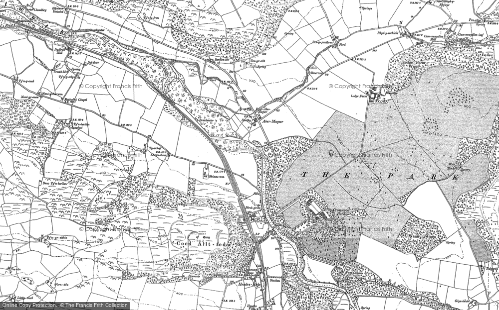 Old Map of Abermagwr, 1886 - 1904 in 1886