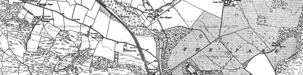 Old map of Abermagwr in 1886