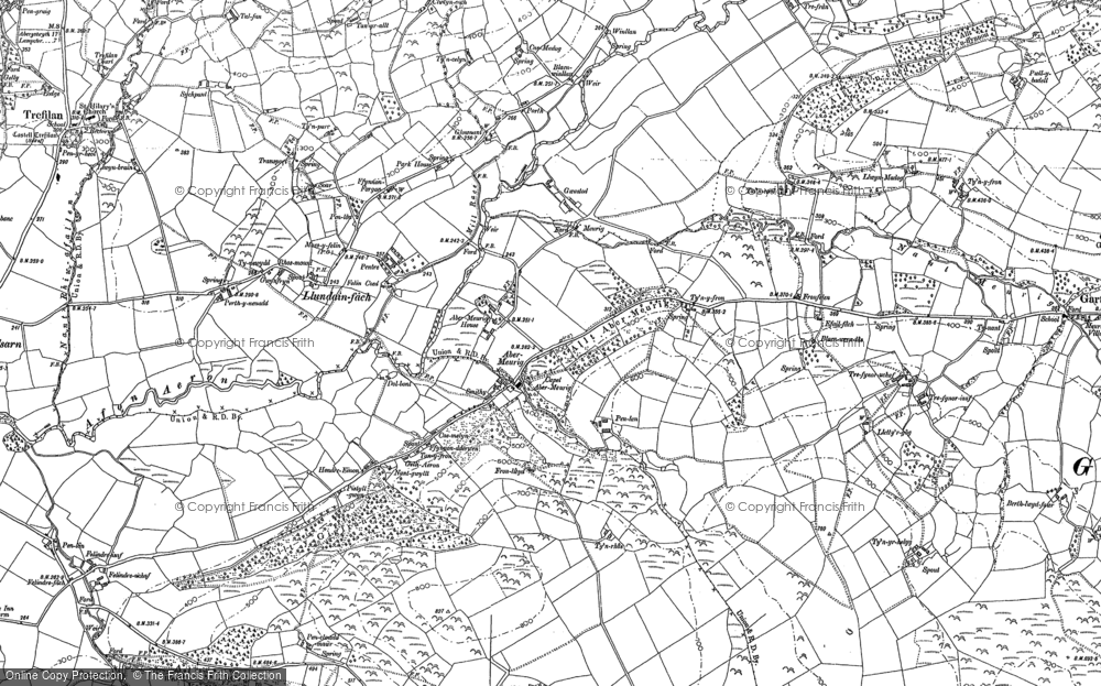 Old Map of Abermeurig, 1887 in 1887