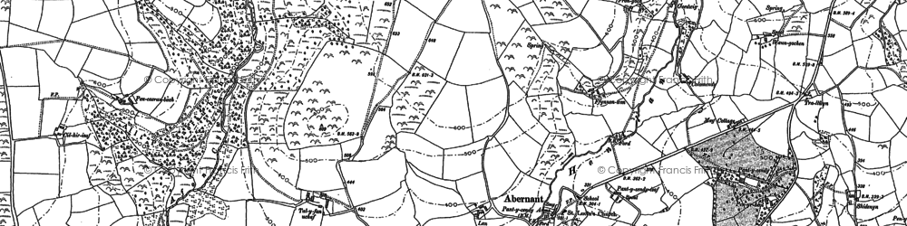 Old map of Abernant in 1887