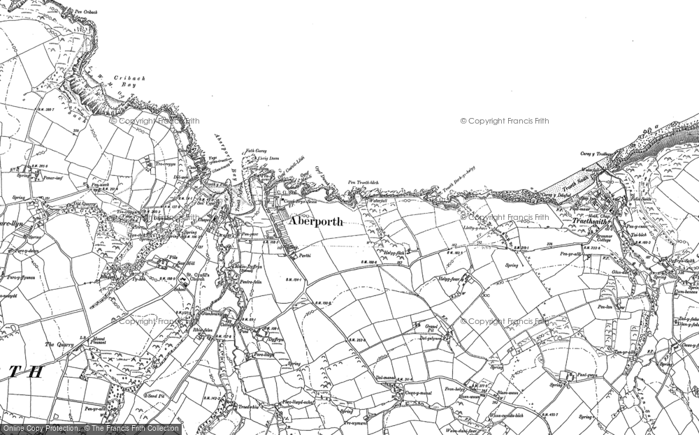 Old Map of Aberporth, 1904 in 1904