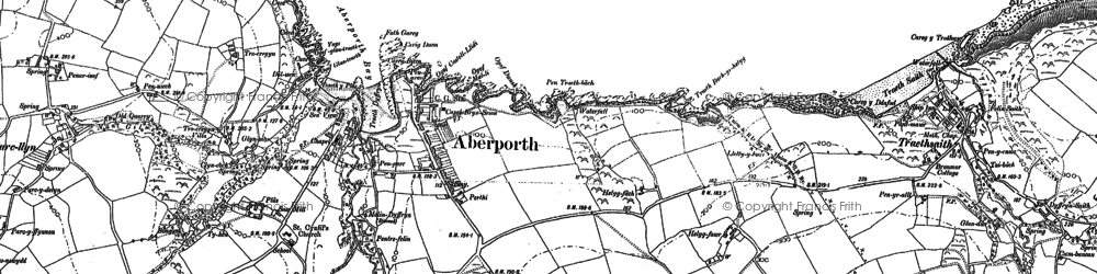 Old map of Aberporth in 1904