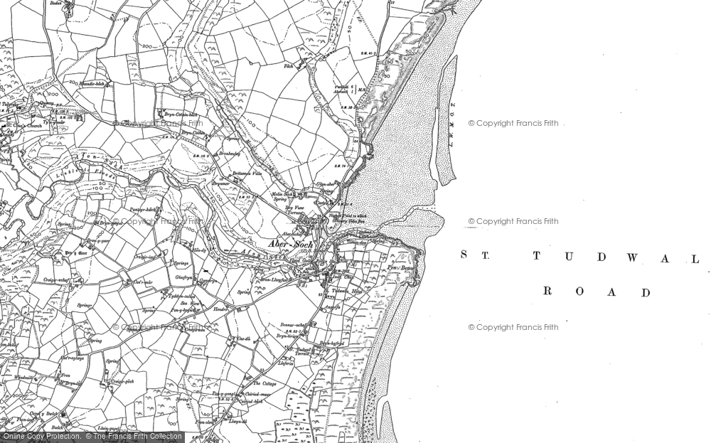 Old Map of Abersoch, 1899 in 1899