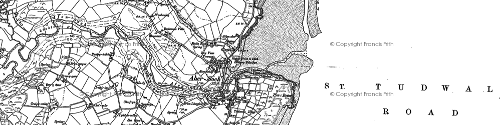 Old map of Abersoch in 1899