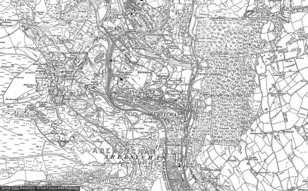 Old Map of Abersychan, 1899 - 1900 in 1899