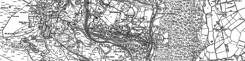 Old map of Abersychan in 1899