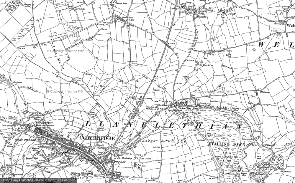 Old Map of Aberthin, 1885 - 1902 in 1885