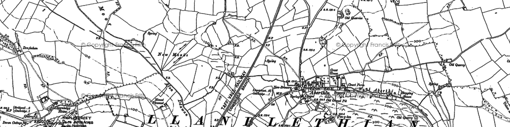 Old map of Aberthin in 1885