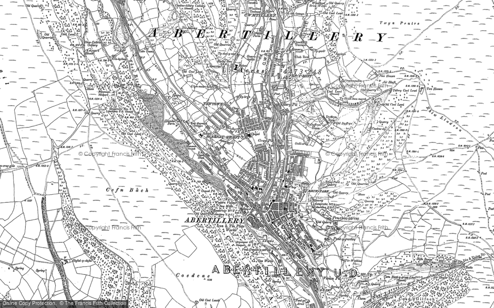 Map of Abertillery, 1899 - 1916