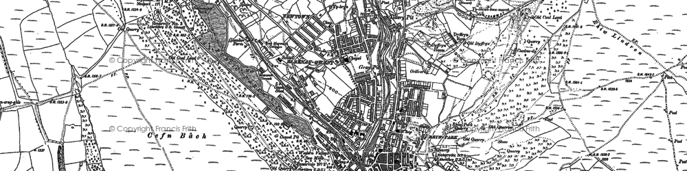 Old map of Abertillery in 1899