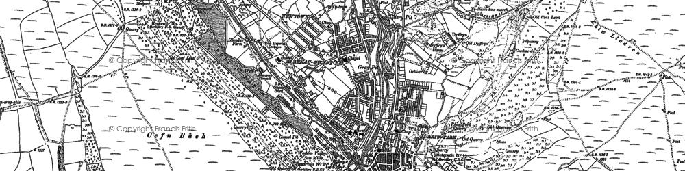 Old map of Abertillery/Abertyleri in 1899