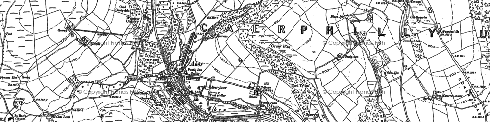 Old map of Abertridwr in 1898