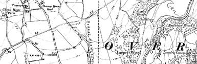 Old map of Allt Chnàimhean centred on your home