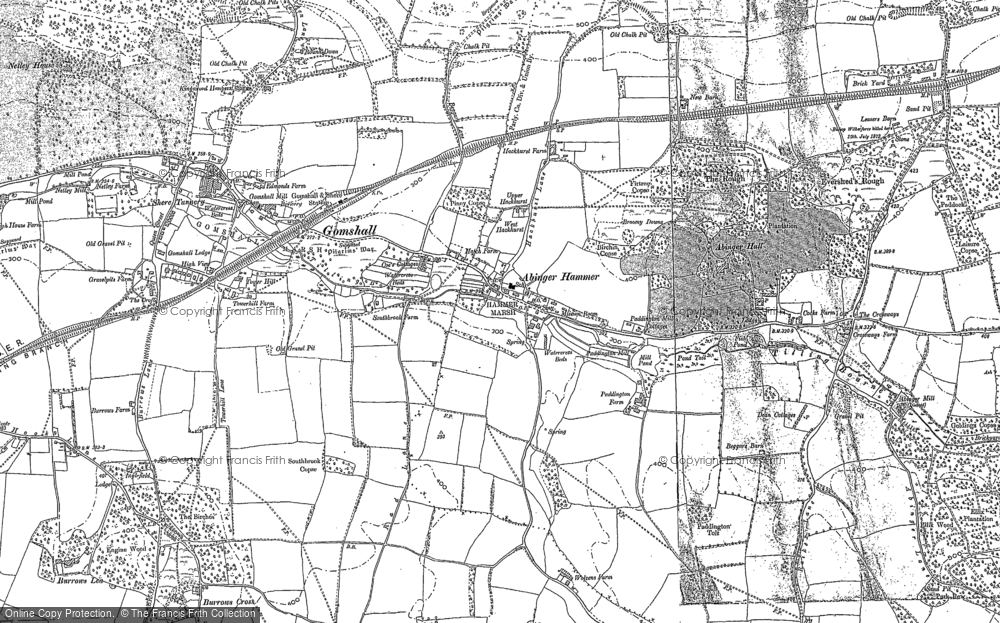 Old Map of Abinger Hammer, 1895 in 1895
