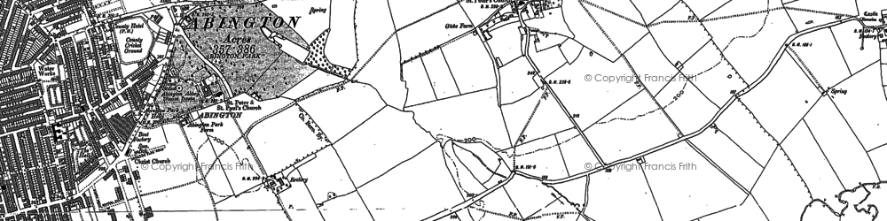 Old map of Abington Vale in 1884
