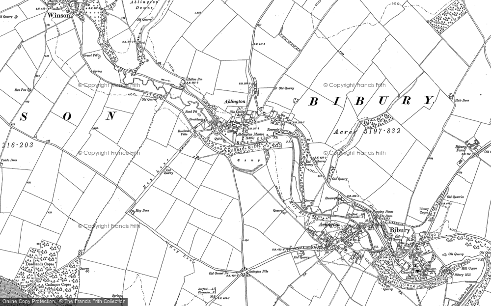 Old Map of Ablington, 1881 - 1882 in 1881