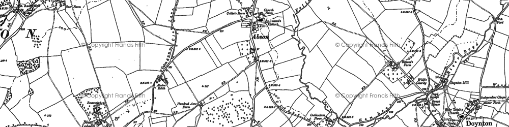 Old map of Abson in 1881
