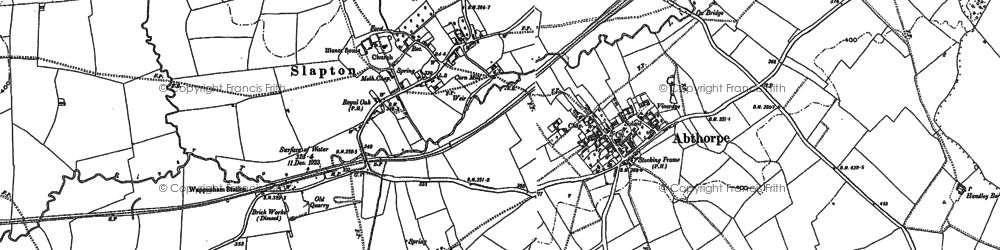 Old map of Abthorpe in 1883
