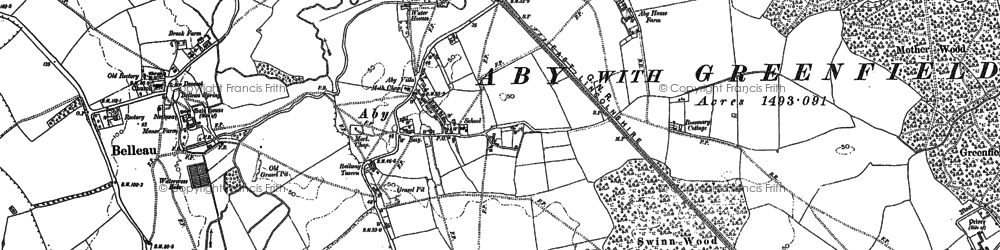 Old map of Aby in 1887