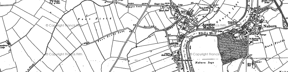 Old map of Whinny Hills in 1891